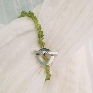 Peridot & Silver Luck Bracelet